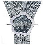 FKL Tenda a Fili per Porta, 100 x 200/150 x 250/300 x 250 cm (19. Bianco/Nero, 300 x 250 cm, 23. Grigio Argento, 300 x 250 cm