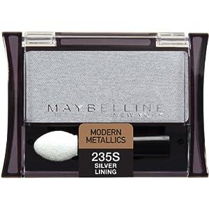 Maybelline New York Expert Wear Eyeshadow Singles, Silver Lining 235 Shimmer, 0.09 Ounce