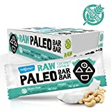 Maxsport Nutrition Cashew & Coconut Rohkost Riegel 20 Stück - Roh Paleo Vegan...