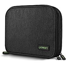 UGREEN Organizador de Viaje Bolsa Portable con Compartimentos para Accesorios Electrónicos como Tableta, Batería Externa, Disco Duro, USB Cables, Cargadores, Tarjetas de Memoria, Memoria USB, etc.