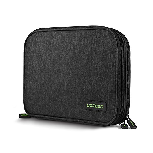 UGREEN-Electronic-Accessories-Organiser-Case-Travel-Gadget-Carry-Bag-with-Double-Layer-for-Adapters-Memory-Cards-USB-Cables-Power-Bank-External-Battery-Pack-Portable-Charger-Hard-Drive-and-More
