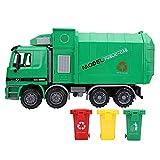 Xinwoer Giocattoli per Auto Camion di immondizia, Simulazione Bambini inerzia Camion di immondizia igiene Modello di Auto Giocattoli con Tre rifiuti