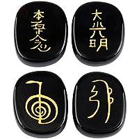 Shanxing 4 Stück Lapislazuli Edelstein Oval Kristall Eingravierten Chakra Symbol Energie Steine für Reiki Heilung... preisvergleich bei billige-tabletten.eu