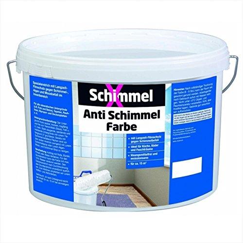 Anti-Schimmelfarbe Innen-Farbe mit Langzeitschutz weiß 5Liter ()