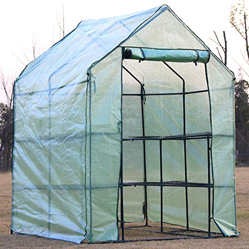 D4P Display4top Invernadero de jardín vivero casero Plantas Cultivos 143 x 143 x 195 cm