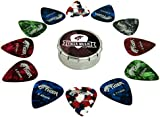 Tiger Guitar Plectrums with Pick Tin, 12 Medium Guitar Picks