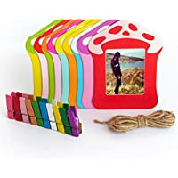 Woodmin 3- pollici Arredamento Colorato Wall Hanging Telaio Combinato per Instax mini / Pringo P231 / SP 1 / Polaroid PIC-300P / Polaroid Z2300 Pellicole