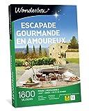 Wonderbox - Coffret cadeau pour couple - ESCAPADE GOURMANDE EN AMOUREUX - plus de 1.000 séjours gourmands en manoirs, hôtels de charme, maisons d'hôtes authentiques pour 2 personnes.