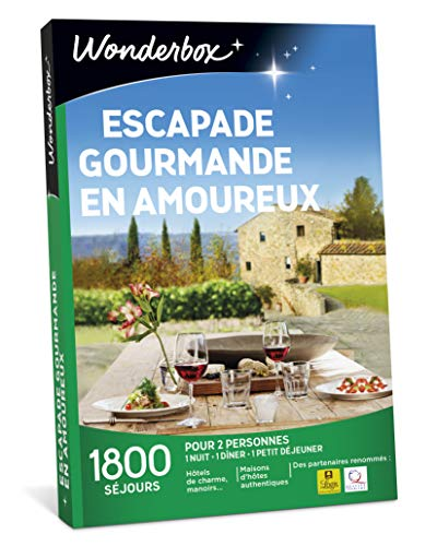 Wonderbox - Coffret cadeau noel - ESCAPADE GOURMANDE EN AMOUREUX - plus de 1.000...