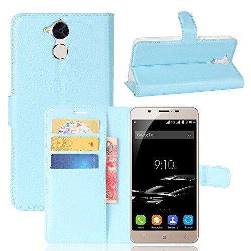 Owbb Hülle für Blackview P2 Ultra Schlanke Handyhülle Premium PU Ledertasche Flip Cover Wallet Case mit Stand Function Innenschlitzen Design Blau