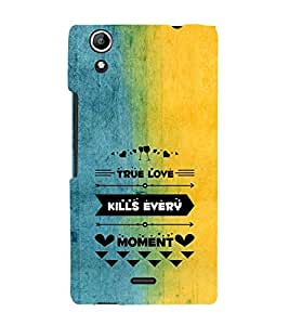 EPICCASE true love kills every moment Mobile Back Case Cover For Micromax Canvas Selfie Lens Q345 (Designer Case)