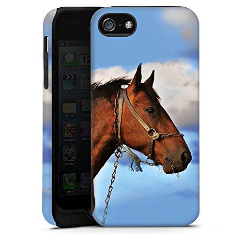 Apple iPhone X Silikon Hülle Case Schutzhülle Pferd Hengst Stute Tough Case matt