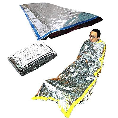 TQ Neue Leichte Outdoor wasserdichte Notschlafsack Überleben Rettung Thermische Erste-Hilfe-Decke Campingfolie Rettungsdecke
