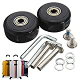Mohoo 40x18mm Wagon Wheels pneumatico della ruota valigia e della gomma del pneumatico Assali Ruote bagagli Valigia di riparazione sostituzione Set