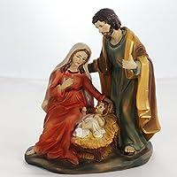 Krippenfiguren Set 14 cm | Weihnachtsartikel Heilige Familie 14 cm | HANDARBEIT | Krippen | Krippenfiguren-Set | Krippenfiguren