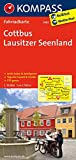 Cottbus - Lausitzer Seenland: Fahrradkarte. GPS-genau. 1:70000 (KOMPASS-Fahrradkarten Deutschland, Band 3083)