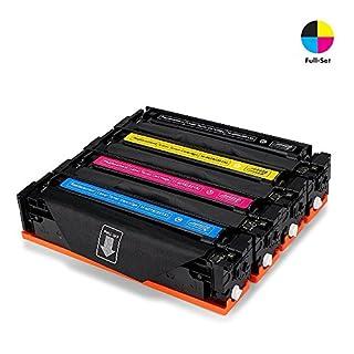 Airby® Toner kompatibel zu HP 201X CF400X CF401X CF402X CF403X für HP Color LaserJet Pro MFP M277dw, M252dw, MFP M277n, M252n, 4 Stücke (Schwarz, Cyan, Gelb, Magenta)