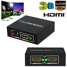 Alimentazione 1In 2Out HDMI 1080P Splitter amplificatore per PS3XBOX HDTV con cavo di alimentazione USB