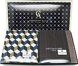 LEEVO Fazzoletti da uomo assortiti in tessuto di cotone 100% Hankies Fashion Gift Box Bulk - multicolore - 45cm scatola impostato