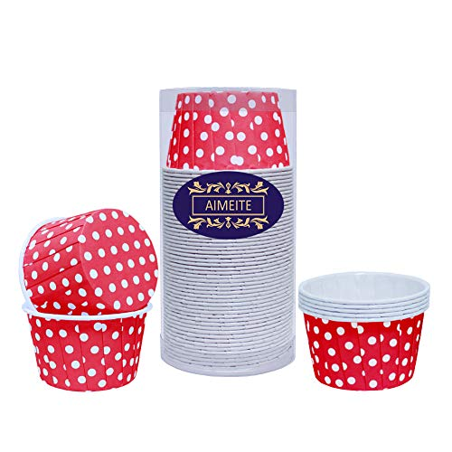 pcake Förmchen Backförmchen Cupcake Muffin Förmchen Liners Cupcake Wrappers (Rot) ()