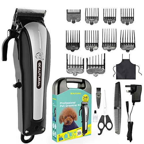 Beautural ProfessionalCordless Pet Grooming Clipper Kit a6f9dc44d0b4
