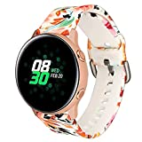 H.eternal New Slim Fashion Sports Breathable Non-Slip Easy to Adjust Soft Silicone Replacement Strap for Samsung Galaxy Watch 42mm/Active 40mm (C)
