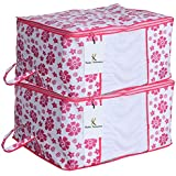 Kuber Industries 2 Piece Non Woven Storage Organiser, X-Large, Pink