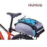 Huntvp Fahrradtasche 14/25/26L Wasserdicht Gepäckträgertasche Fahrrad Hintsitz Trunkbag Satteltasche Hochwertig Reparaturset mit Schultergurt und Reflektierendes Schild