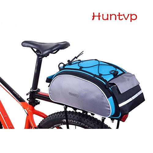 Huntvp Fahrradtasche 13/25/26L Wasserdicht Gepäckträgertasche Fahrrad Hintsitz Trunkbag Satteltasche Hochwertig Reparaturset mit Schultergurt und Reflektierendes - Fahrrad 26 Werkzeug