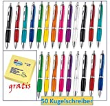 Libetui 50 Stück farbenfrohe Kugelschreiber in Trendigen Farben für Büro und...
