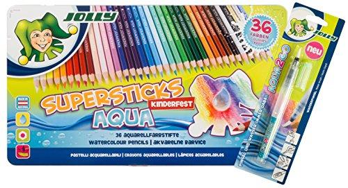 JOLLY AQUA wasservermalbare Stifte | 36 Farben + den Jolly Aqua2Go Pinsel GRATIS | Limitiertes...