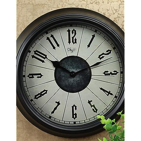 Orologio da parete - DI Vetro/Ferro/Metallo - Antiquariato/Retrò - Tonda