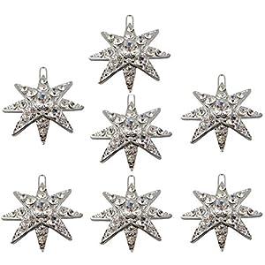 Sissi Sisi Stern Haarsterne – SET mit 7 Stück – Stern mit 8 Zacken, Grösse 3,5cm Haarschmuck Brautschmuck Ballschmuck Hochzeitsschmuck