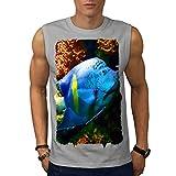 Tief Meer Fisch Niedlich Tier Meer Schönheit Herren S-2XL Ärmellos T-shirt | Wellcoda