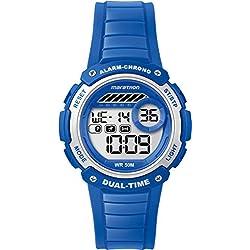 Timex Marathon Kid's TW5K85000 Quartz Watch with LCD Dial Digital Display and Blue Resin Strap