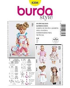 Patron de couture burda 8308 puppenkleider: combinaison