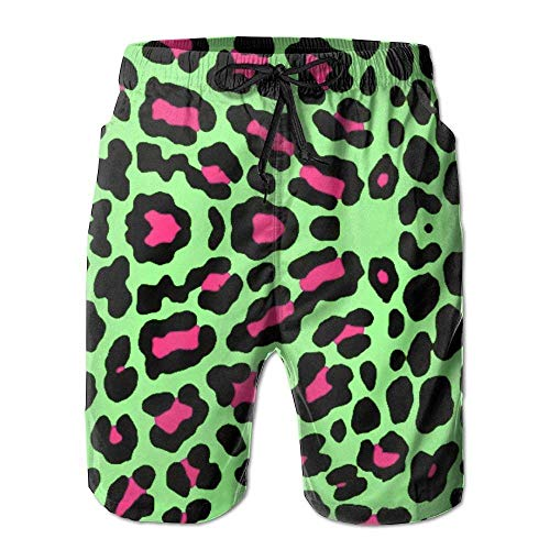 cleaer Cheetah Leopard Summer Breathable Swim Trunks Beach Shorts Board Shorts Large XX-Large -