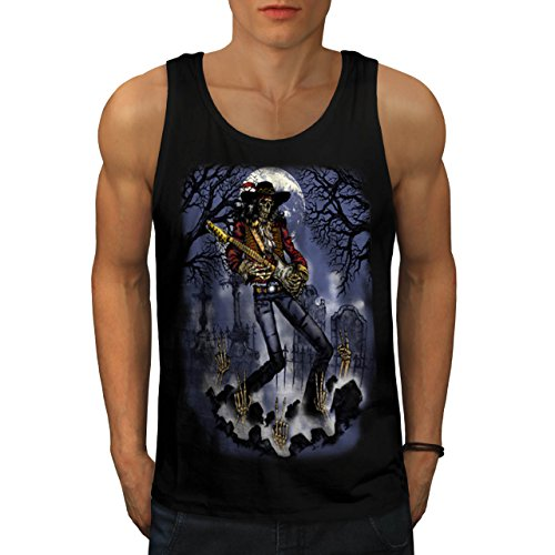 musician-skeleton-cemetery-music-men-new-black-l-tank-top-wellcoda