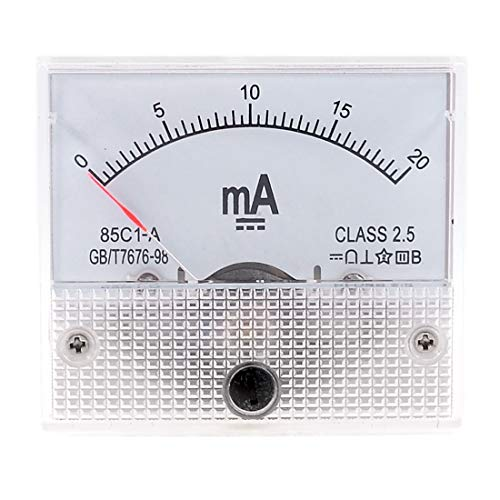 DC 0-20 mA Analog Current Panel Meter Amperemeter 85 C1 Analog Current Panel Meter -