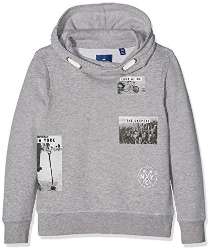 TOM TAILOR Kids be fast sweatshirt, Felpa Bambino, Grigio (Medium Grey Melange), 140