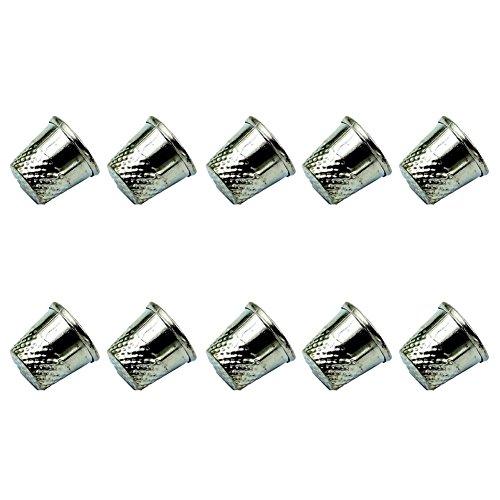 10×Fingerhut Metall Schild Schützen Sie Ihre Finger Nähen DIY