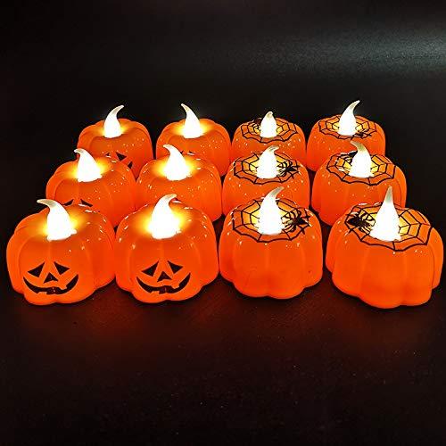 Spider Web Kürbis - MZHI Halloween Kerze Lichter Ghost Festival