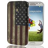 König-Shop Handyhülle USA Flagge für Samsung Galaxy S4 i9500 / i9505 / i9506 / Value Edition GT-I9515