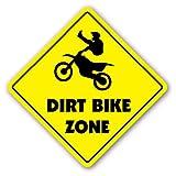 Funny Sign Geschenk Dirt Bike ZONE Sign Neuheit Jump Berm Reifen Trail Ride Outdoor Metall Aluminium Schild, Dekoration