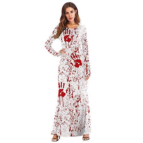 �me Party Abend Party Bühnenkostüm Europa Und Amerika 3D Horror Blut Spritzen Handabdruck Kleid Rollenspiel Requisiten DE (Size : M) ()