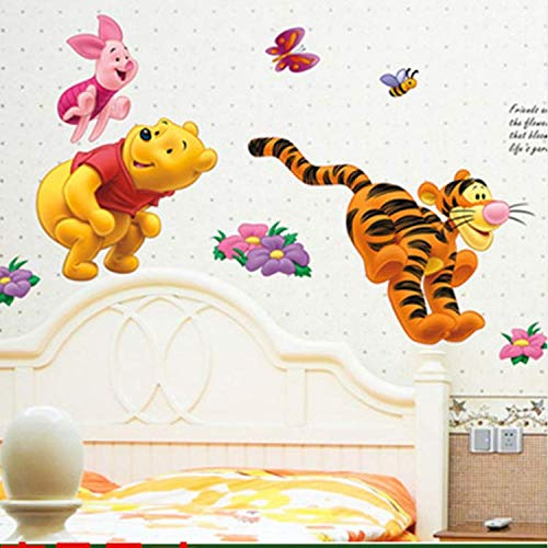 Winnie The Pooh Bär Tiger Wandaufkleber Für Kinderzimmer Cartoon Kindergarten Wandtattoo Kinderzimmer Dekor (Pooh-der-bär-wand-dekor)