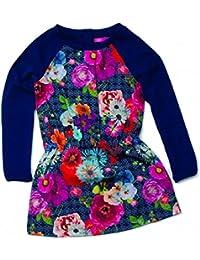 CAKEWALK Mädchen Kleid SENITA Blumenmuster dark indigo Gr.110-164 UVP 49,95