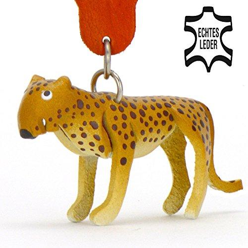 Leopard-Gepard-Tiger Shir Khan - kleiner Tiger Schlüssel-Anhänger aus Leder, eine tolle Geschenk-Idee für Frauen und Männer im Zoo-Zubehör, Stofftier, Kuscheltier, Großkatzen, Raubtier, Tigerin, Raubkatze, Bali, Java, Indochinesischer, Sumatra, Goldener, Lwe, (Für Kinderschminken Hund Kostüm)