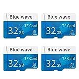 Docooler Scheda di Memoria 32G Flash TF di Classe 10 Micro SD Memory Card per Fotocamere Tablet e Smartphone [4 pezzi]