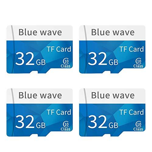 Docooler [4 STÜCK] Speicherkarte Große Kapazität Klasse 10 TF Karte Flash TF Karte 32G Datum Speicher High Speed für Smartphone